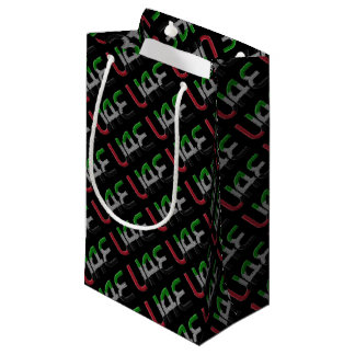 UAE United Arab Emirates Flag Colors Typography Small Gift Bag