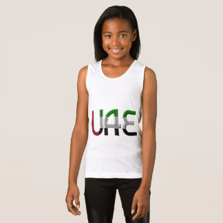 UAE United Arab Emirates Flag Colors Typography Tank Top