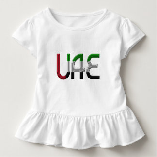 UAE United Arab Emirates Flag Colors Typography Toddler T-shirt