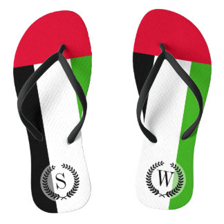UAE United Arab Emirates Flag Flip Flops