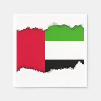 UAE United Arab Emirates Flag Napkin