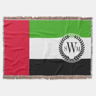 UAE United Arab Emirates Flag Throw Blanket