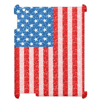 UAS Flag In Glitter Design Texture Cover For The iPad