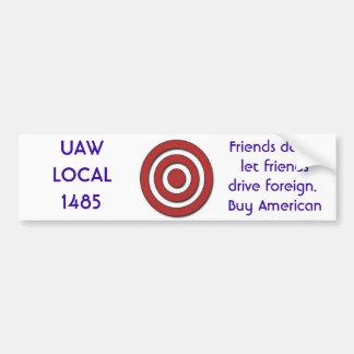 uaw local 1485 bumper sticker