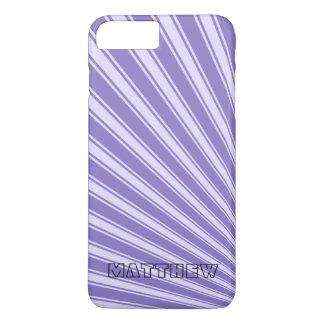 Ube Color Stripe Funky Pattern iPhone 7 Plus Case