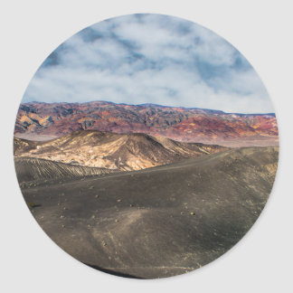 Ubehebe Crater Death Valley Classic Round Sticker