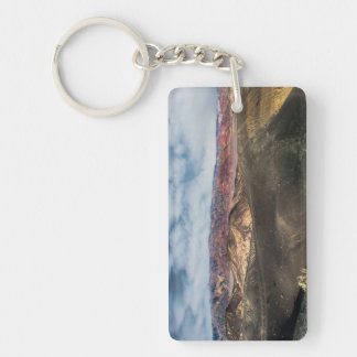 Ubehebe Crater Death Valley Double-Sided Rectangular Acrylic Keychain