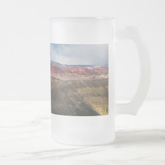 Ubehebe Crater Death Valley Frosted Glass Beer Mug