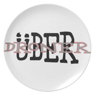 Uber Droner Party Plates