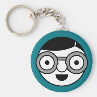 Uber Nerd Basic Round Button Keychain