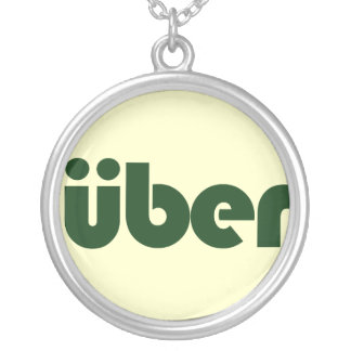 uber silver plated necklace