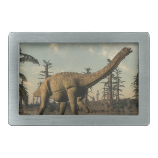 Uberabatitan dinosaur in the lake - 3D render Belt Buckles