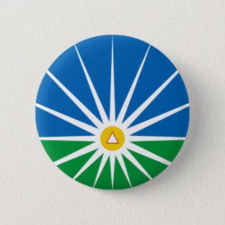 Uberlandia Minasgerais Brasil, Brazil flag 2 Inch Round Button