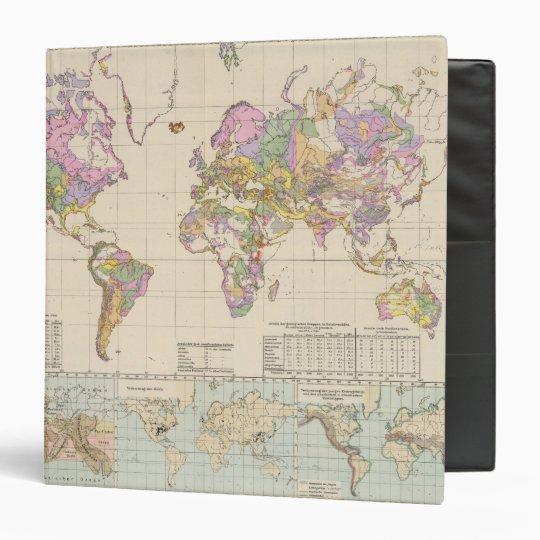 Ubersicht der Erde - Overview of the Earth Map Vinyl Binder