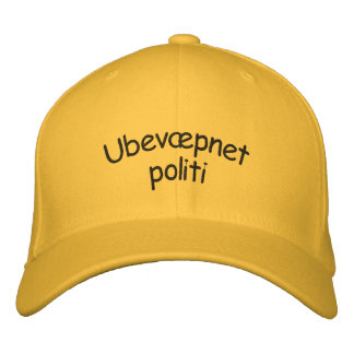 Ubevæpnet politi, unarmed police in Norwegian Embroidered Hat