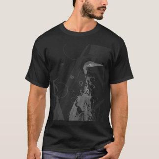 ubuntu hardy heron white on black T-Shirt