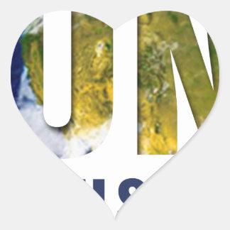 Ubuntu - I am because you are Heart Sticker