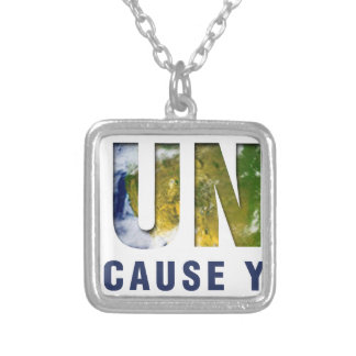 Ubuntu - I am because you are Silver Plated Necklace