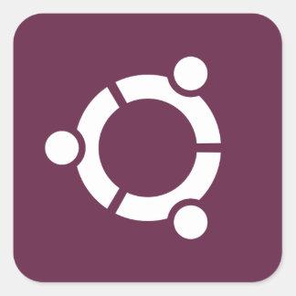 Ubuntu Purple Square Sticker