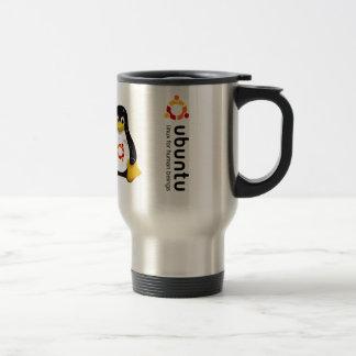 Ubuntu - versions until the 11.04 travel mug