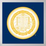 UC Berkeley School Seal - Gold Poster