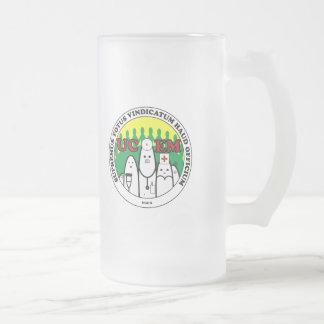 UCEM Latin Beer Frosted Glass Beer Mug