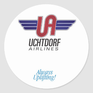 Uchtdorf Airlines. Round sticker