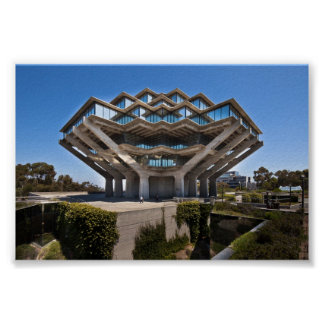 UCSD's Geisel Library Poster