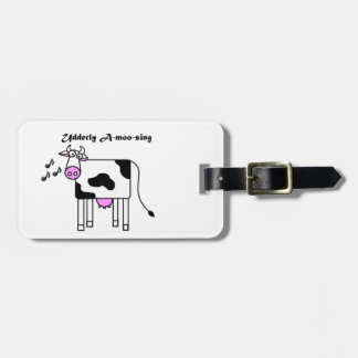 Udderly A-moo-sing Funny Cartoon Luggage Tag