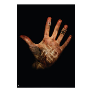 UF Dirt Hand Large Poster
