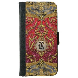 Ufaycicle Baroque 6/6s Damask Monogram iPhone 6 Wallet Case