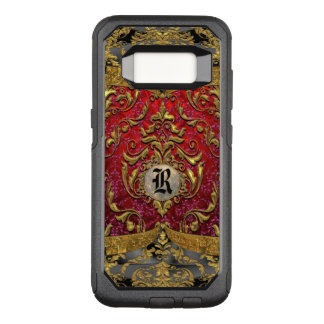 Ufaycicle Baroque  Damask VIII Monogram OtterBox Commuter Samsung Galaxy S8 Case
