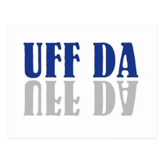 UFF DA Funny Scandinavian Postcard
