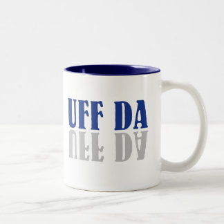 UFF DA Funny Scandinavian Swedish Norwegian Two-Tone Coffee Mug