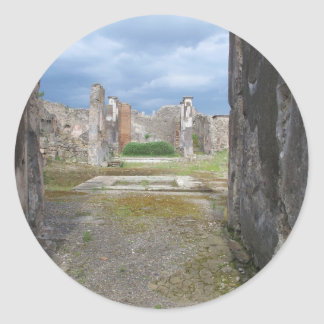 Ufficio Scavi di Pompeii Classic Round Sticker