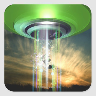 UFO 2 SQUARE STICKER