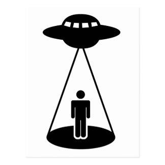 UFO Abduction Postcard