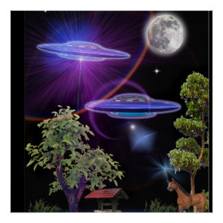 UFO abduction Poster