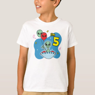 UFO Alien 5th Birthday T-Shirt