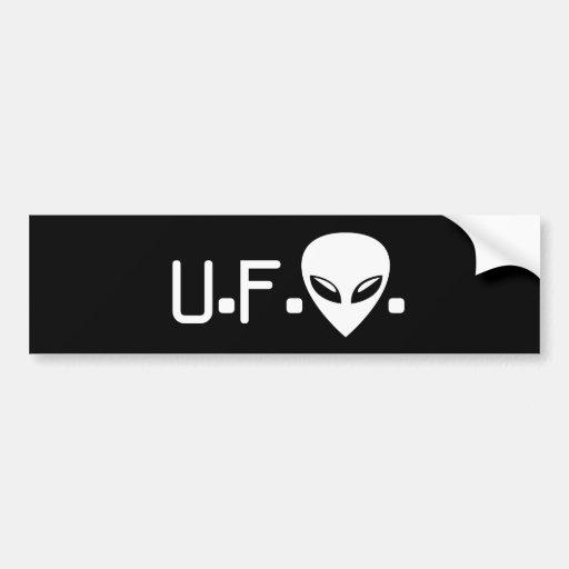 UFO Alien Bumper Sticker