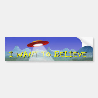 UFO Aliens Saucer decal I Want To Believe Bumper Sticker