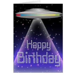 UFO Birthday Card