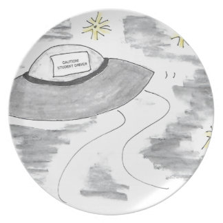 UFO Birthday Plate