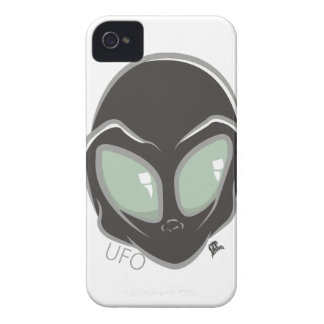 UFO Black Galactic Martian Alien Head iPhone 4 Cases