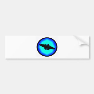 UFO BLUE SKIES BUMPER STICKER