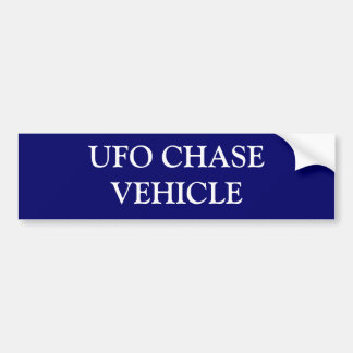 UFO CHASE VEHICLE BUMPER STICKER