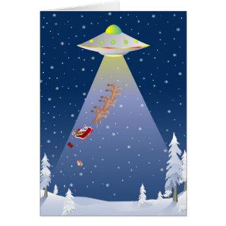 UFO Christmas Card