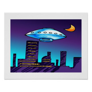 UFO City Poster