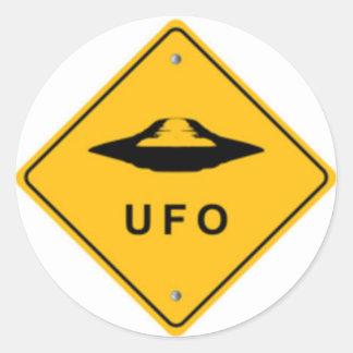 UFO CLASSIC ROUND STICKER
