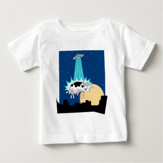 UFO Cow Abduction Baby T-Shirt